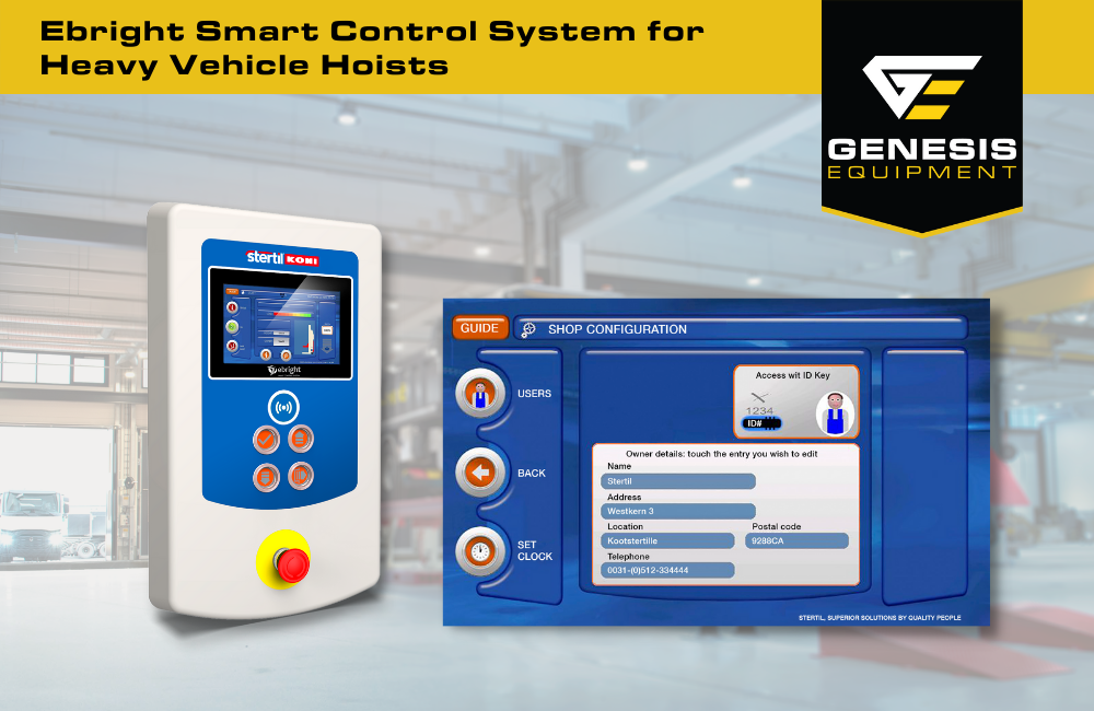The Stertil-Koni ebright Smart Control System for heavy vehicle hoists and hydraulic lift operation keeps you safe and in control.