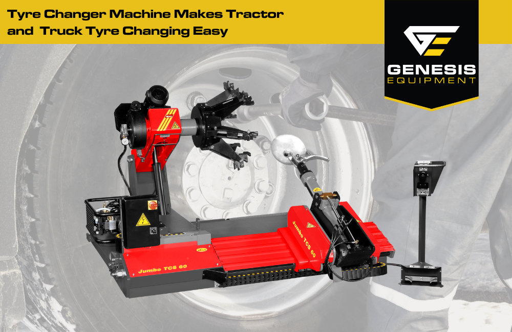 The Sicam Jumbo TCS60 tyre changer machine makes tractor and truck tyre changing easy.